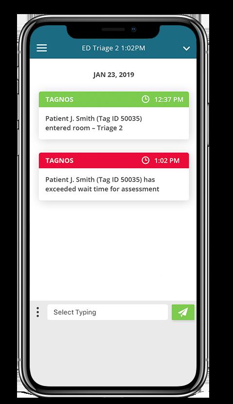 Screenshot of TAGNOS Alerts and Notifications