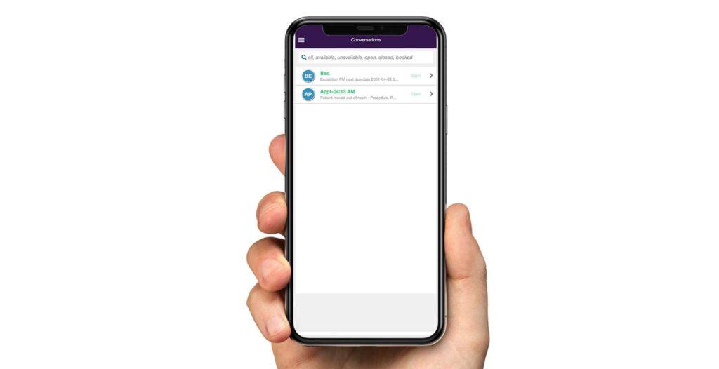 Image of 'TAGNOS mobile app'